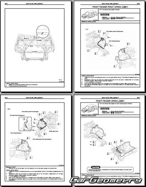 2009 Toyota Matrix Service Manual кузовные размеры Toyota Matrix S Xrs 2009 2014 Aze141
