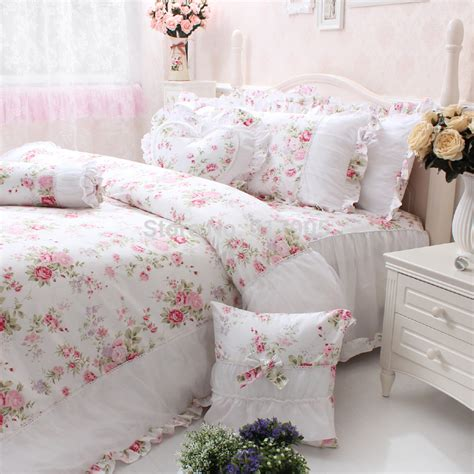 vintage floral comforters elegant pink rose print girls bedding set full size