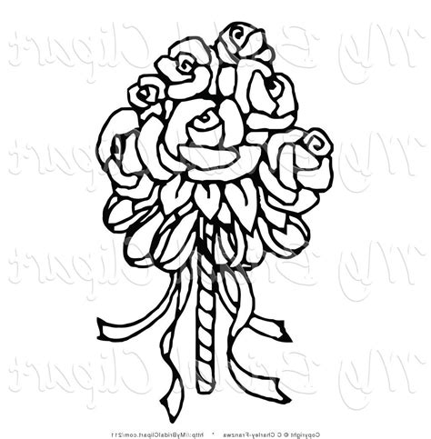Wedding Flowers Clip Black And White by Flowers Clipart Black And White Free