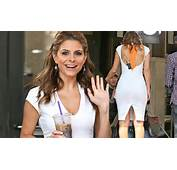 White Hot Maria Menounos Squeezes Her Perfect Hourglass Curves Into
