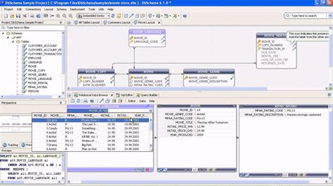 er model tool er diagram sql database tool dbschema