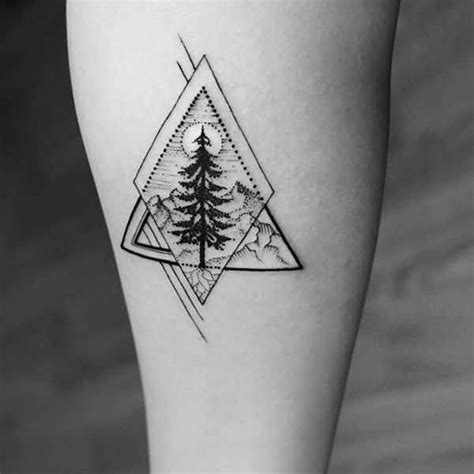realistic geometric tree tattoo design more tattoo