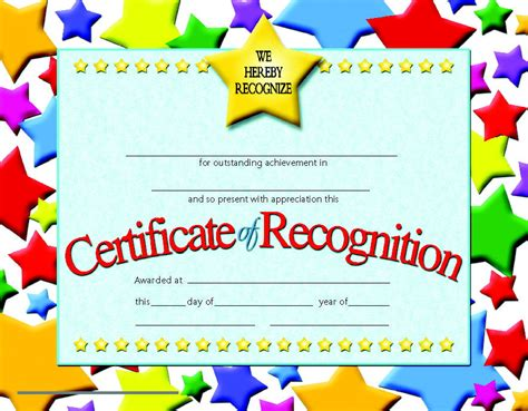 recognition certificate school specialty marketplace