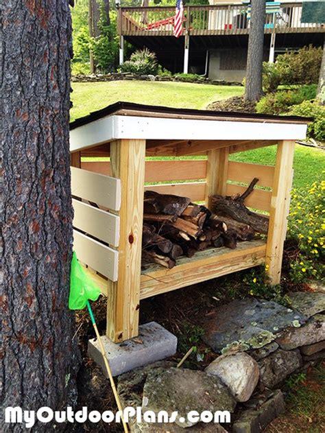 diy backyard firewood shed myoutdoorplans