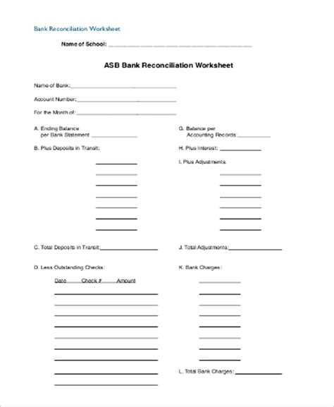 Reconciling An Account Worksheet by Bank Reconciliation Worksheet Worksheets Releaseboard