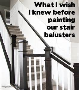 banister and baluster tips for painting stair balusters honeybear