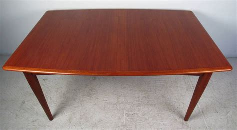 dining room table with butterfly leaf danish modern butterfly leaf dining table at 1stdibs