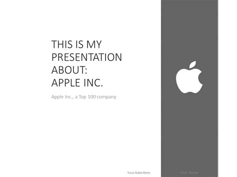 apple ppt template apple powerpoint template grey presentationgo