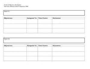 goals and objectives template best photos of goals and objectives template excel smart