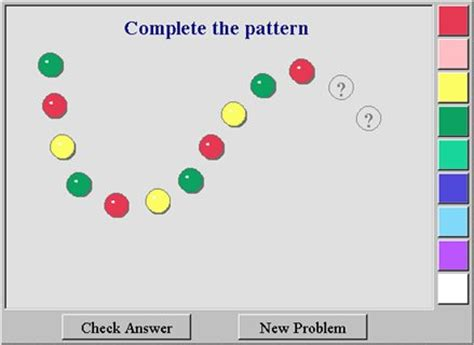 2d shape pattern game completing the pattern nvlm maths zone cool learning games