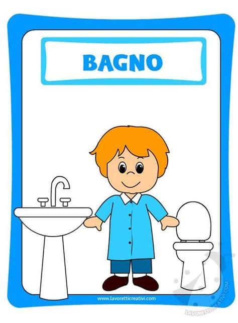 cartelli bagni cartello bagno bambini lavoretti creativi