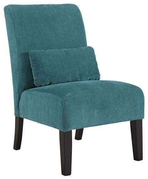 Teal Side Chair Design Ideas Signature Design By Annora Teal 6160460 Contemporary Armless Accent Chair With Pillow