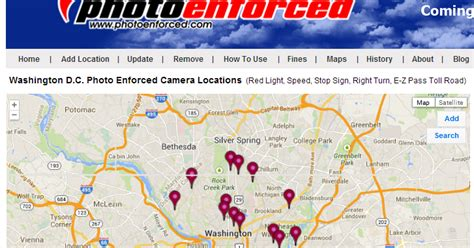 dc red light camera locations photo enforced is d c the first city to install