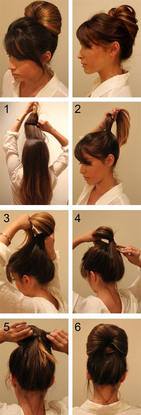 easy hairstyles you can do with one hand inside out pony tail technique pictures photos and
