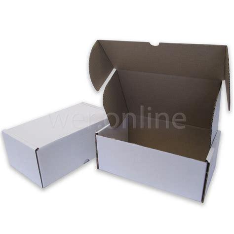 10 X 4 X 4 Box - 10 x 6 x 4 quot 250 x 150 x 100mm white die cut postal