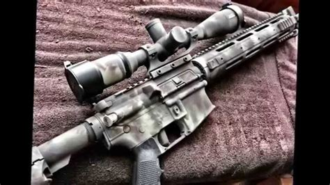 spray painting your ar15 ar 15 rattle can spray paint with rustoleum using camo
