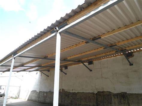Metal Roof Car Shelter Steel Roof Shelter And Electric Sliding Gate For Wembley