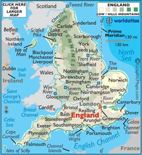 geography of england, landforms world atlas