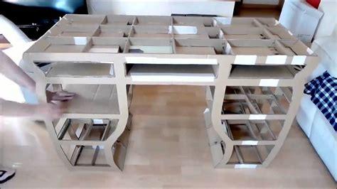 kerajinan tangan membuat rak mini dari kardus cara membuat meja dari kardus bekas