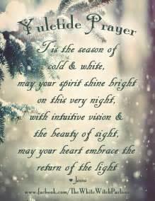 image of winters blessing christmas tree yule yuletide winter solstice prayer chant ritual witch sabbat esbat magick
