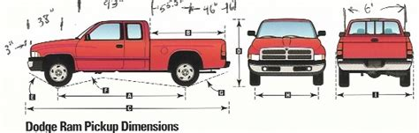 Dodge Ram 1500 Bed Size by Dodge Ram Cab Lwb 4wd Dimensions