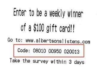 Albertsons Survey Sweepstakes - www albertsonslistens com albertsons listens survey
