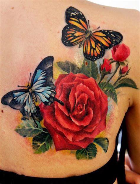 imagenes de mariposas y flores para tatuajes naturaleza