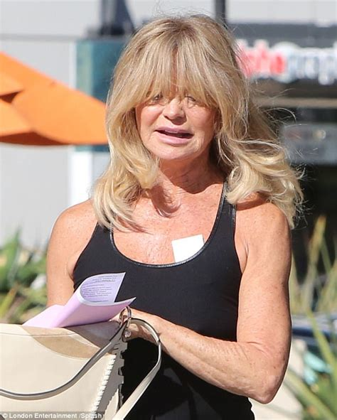 goldie hawn is how old goldie hawn sports mystery bandage on chest daily mail