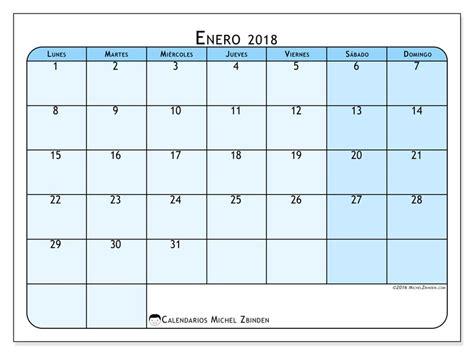 Calendario 2018 Enero Calendario Para Imprimir Enero 2018 Severinus 1 Espa 241 A
