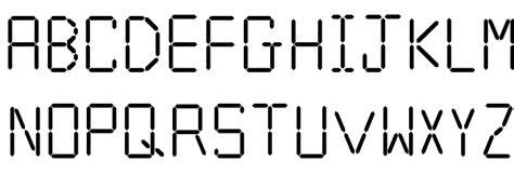 calculator font calculator font