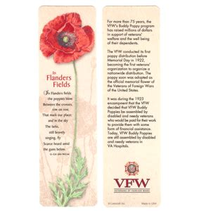 printable poppy bookmark vfw store error page