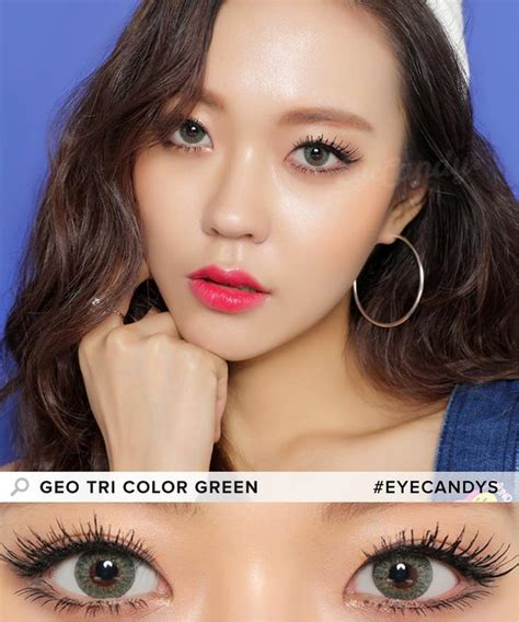 geo tri color green buy geo tri color green colored contacts eyecandys