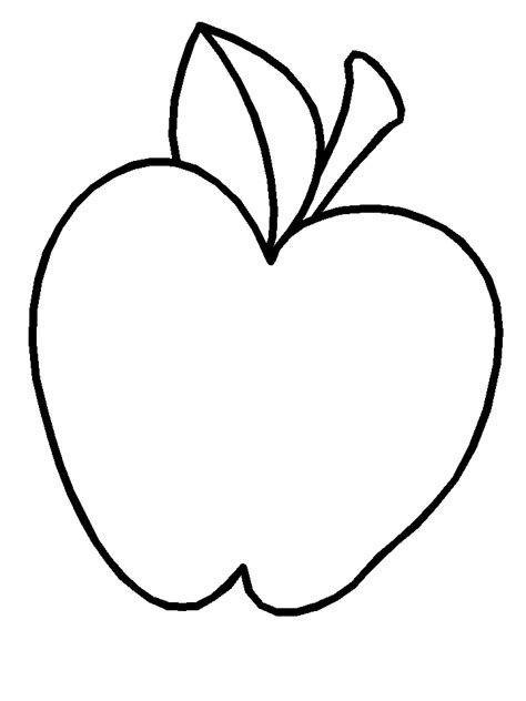 apple template for az coloring pages