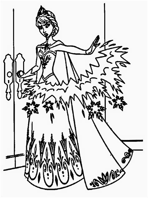 elsa magic coloring page elsa magic coloring page only coloring pages