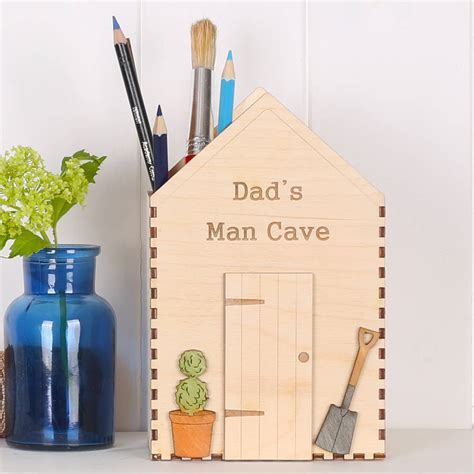 photo gifts for desk personalised dad s shed desk tidy fathers day gift by