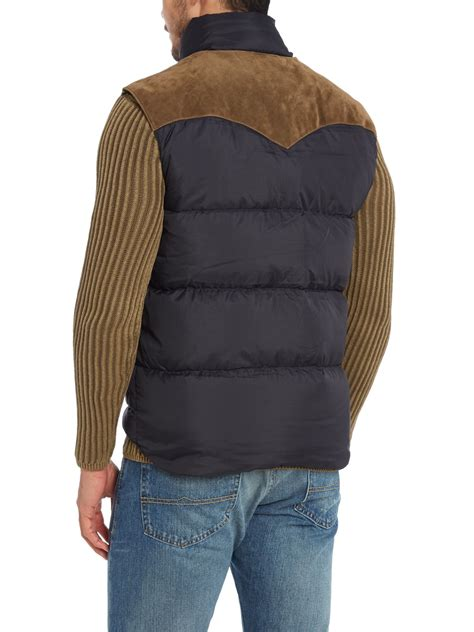 Denim And Supply by Denim Supply Ralph Reversible Padded Vest In
