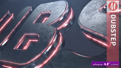 3d logo after effects template dubstep element 3d logo reveal after effects project