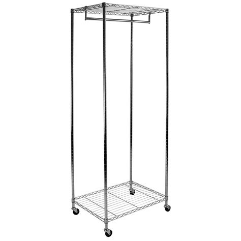 Metal Clothing Racks by Hartleys Metal Garment Rack Hanging Clothes Storage Chrome