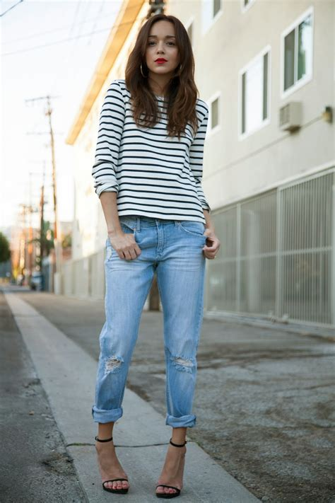 how to wear boyfriend jeans wardrobelooks com