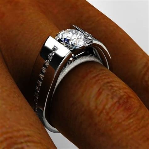 engagement rings wide band settings engagement ring usa