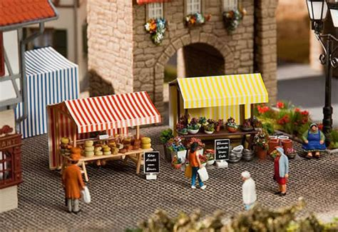 Faller Countrysite Decor Acceessories Miniature Building Ho Scale faller 180614 flower and cheese stand