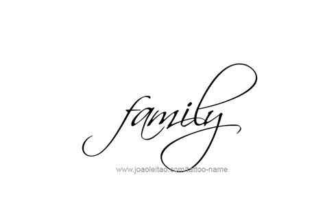 tattoo family word family name tattoo designs tattoos with names