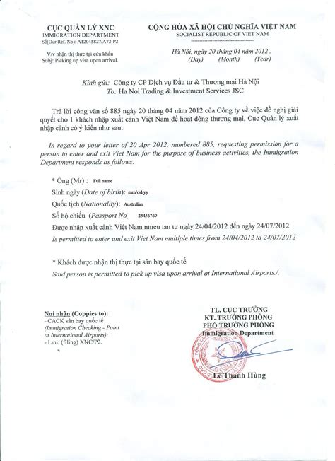 Sle Letter For Visa Approval Visa Upon Arrival Travel Information For From Local Experts
