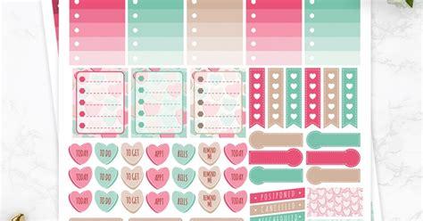free printable valentines planner stickers valentines planner stickers at diy candy minted strawberry