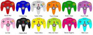 n64 colors nintendo 64 controllers the idolm ster editions by