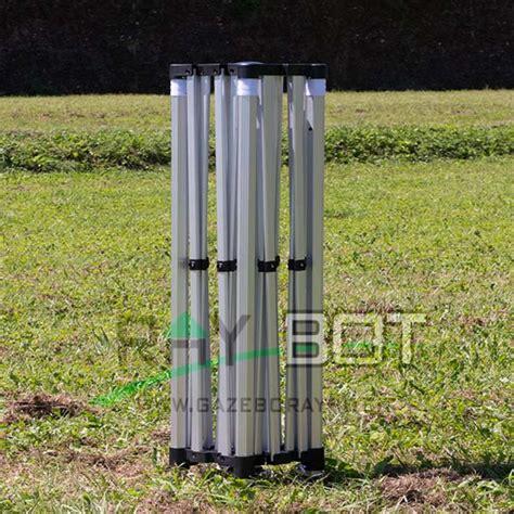 gazebo 4x4 offerta gazebo pieghevole 4x4 alluminio exa 45mm nero esagonale