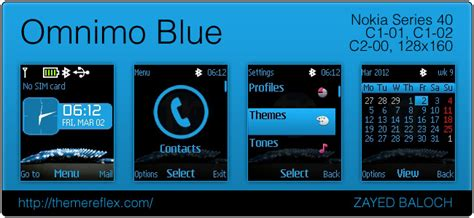 ui themes for nokia c2 01 omnimo blue themes themereflex