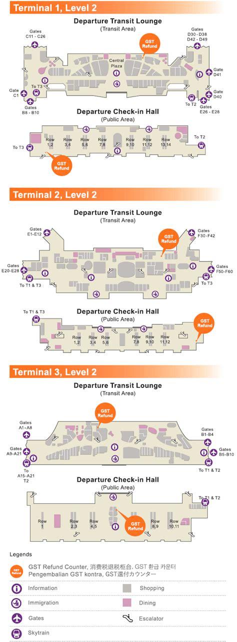 changi airport floor plan global tax free