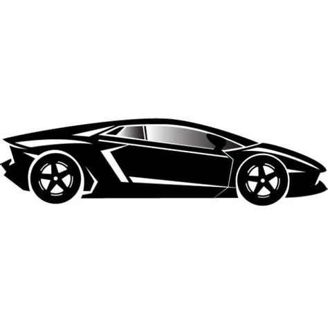 car logo black and white luxury car porch style in black and white vector free