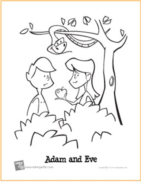 the art of andy fling adam and eve free coloring page